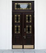 An elegant brown door — Stock Photo