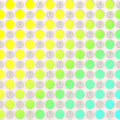 Neon circles on a white background — Stock Photo