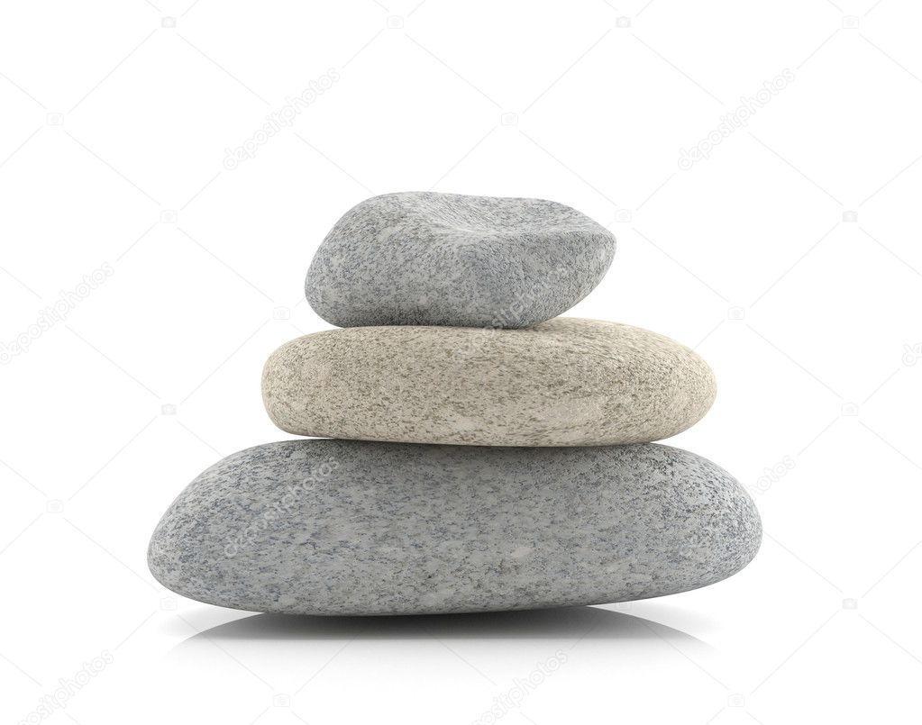 Spa stones 3d model isolated on white background  Stock Photo #6474840