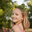 Stock Photo: Girl in wreath