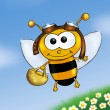 Stock Photo: Busy bee