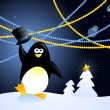 Christmas penguin — Stock Vector #5823889
