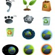 eco icons — Stock Vector