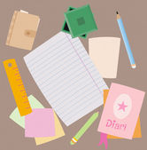 Notes and stationery — Stock Vector