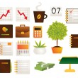Stock Vector: Office objects