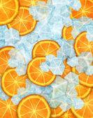 Icy fruit — Stock Photo
