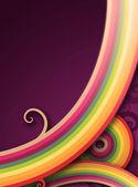 彩虹线 — 图库照片