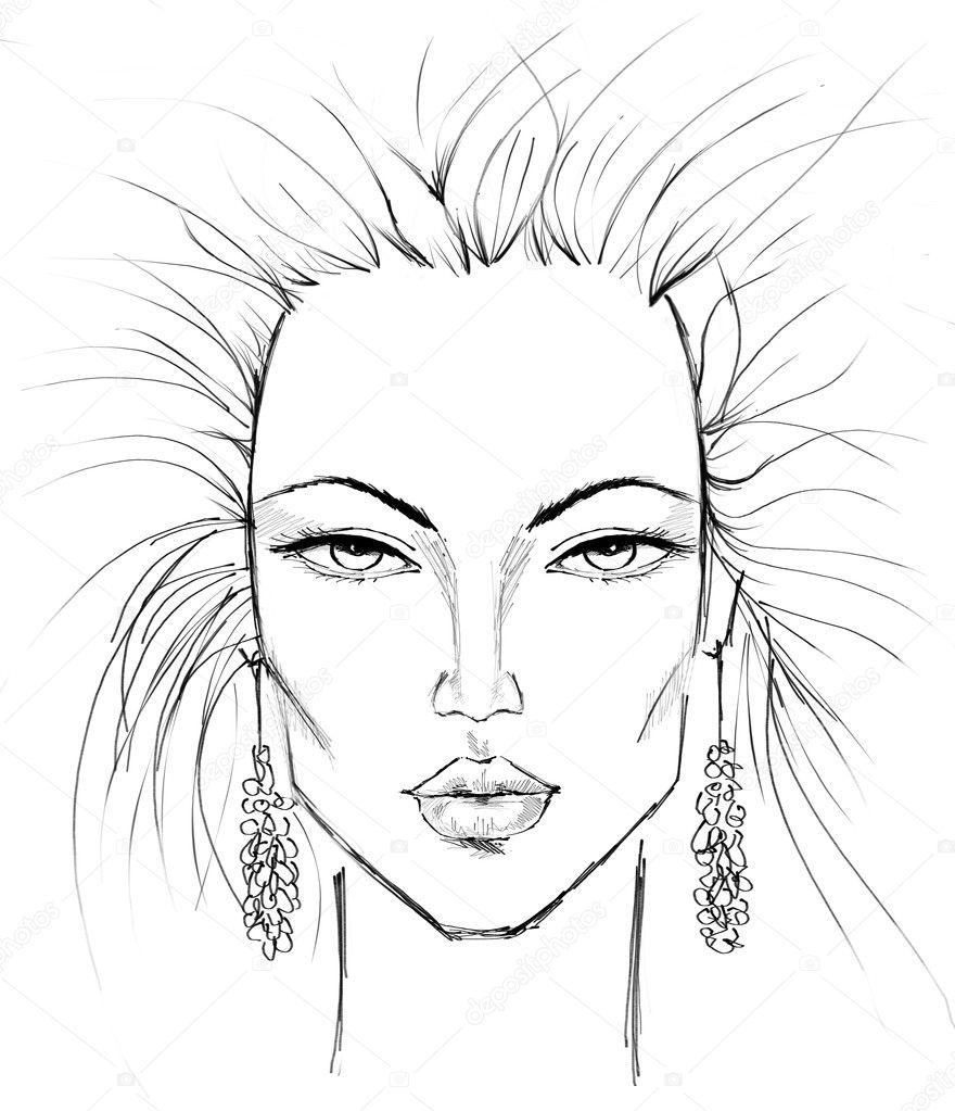 Makeup Face Template Finest Printable Face Templates Amazing Mac