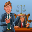 Stockfoto: Lawyer and judge