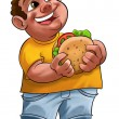 Stock Photo: Fat boy