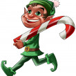 Stock Photo: Elf with candy