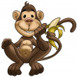 Happy monkey — Stock Photo