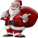 Hang loose santa claus — Stock Photo #5816484