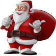 Stock Photo: Hang loose santclaus