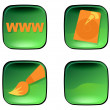 Stock Photo: Green icons