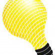 Illustrated lightbulb — Stock Photo