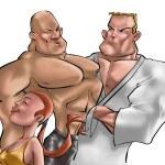 os lutadores do ginásio — Foto Stock