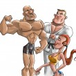 The gym fighters — Stock Photo