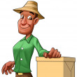 Worker with a box — Stock Photo