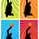 Color basketball 1 — Stock Photo