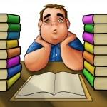 hård läsare — Stockfoto