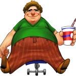 Fat boy — Stock Photo