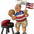 Foto Stock: Americbarbecue