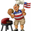 Stockfoto: Americbarbecue