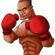 Stock Photo: Angry pugilist