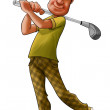 Stock Photo: Golf player