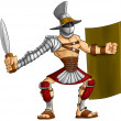 Cartoon gladiator - Stock Photo