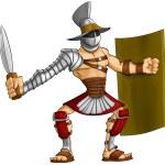 Cartoon gladiator — Stock Photo