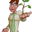 Executive and the plant — Stock Photo #5818939