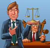 Advocaat en rechter — Stockfoto