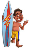 Surf boy — Stock Photo