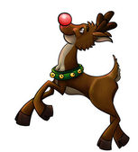 Rudolph the red nose reindeer — Stock Photo
