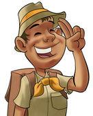 Giovane scout — Foto Stock