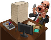 The executive too much busy — Foto de Stock