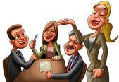 Die executive-reunion — Stockfoto