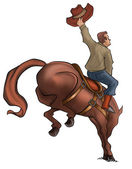 Bucking Rodeo Horse — Stock Photo