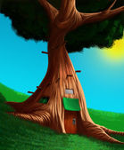 The house in a tree — Stock Photo