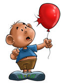 The boy with the balloon — Stock Photo