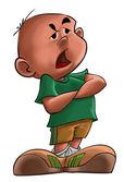 De boos jongen — Stockfoto