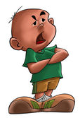 腹が立つ少年 — ストック写真