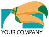 Toucan logo — Stock Photo