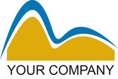 Empresa de logotipo rio — Foto Stock