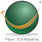 Globe logotyp — Stockfoto