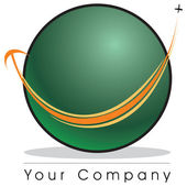 Globe logo — Foto Stock