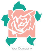 Rose logo — Stock Photo