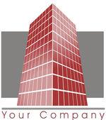 Logotipo do prédio — Foto Stock